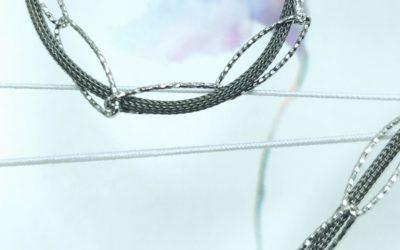 925er Silberkette oval schwarz Silber bicolor geflochten Art.-nr.: 6093